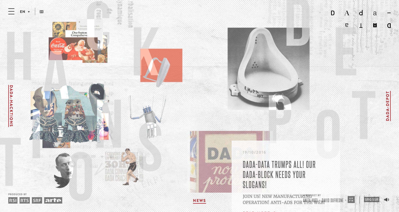 An example of asymmetrical design, via Dada Data