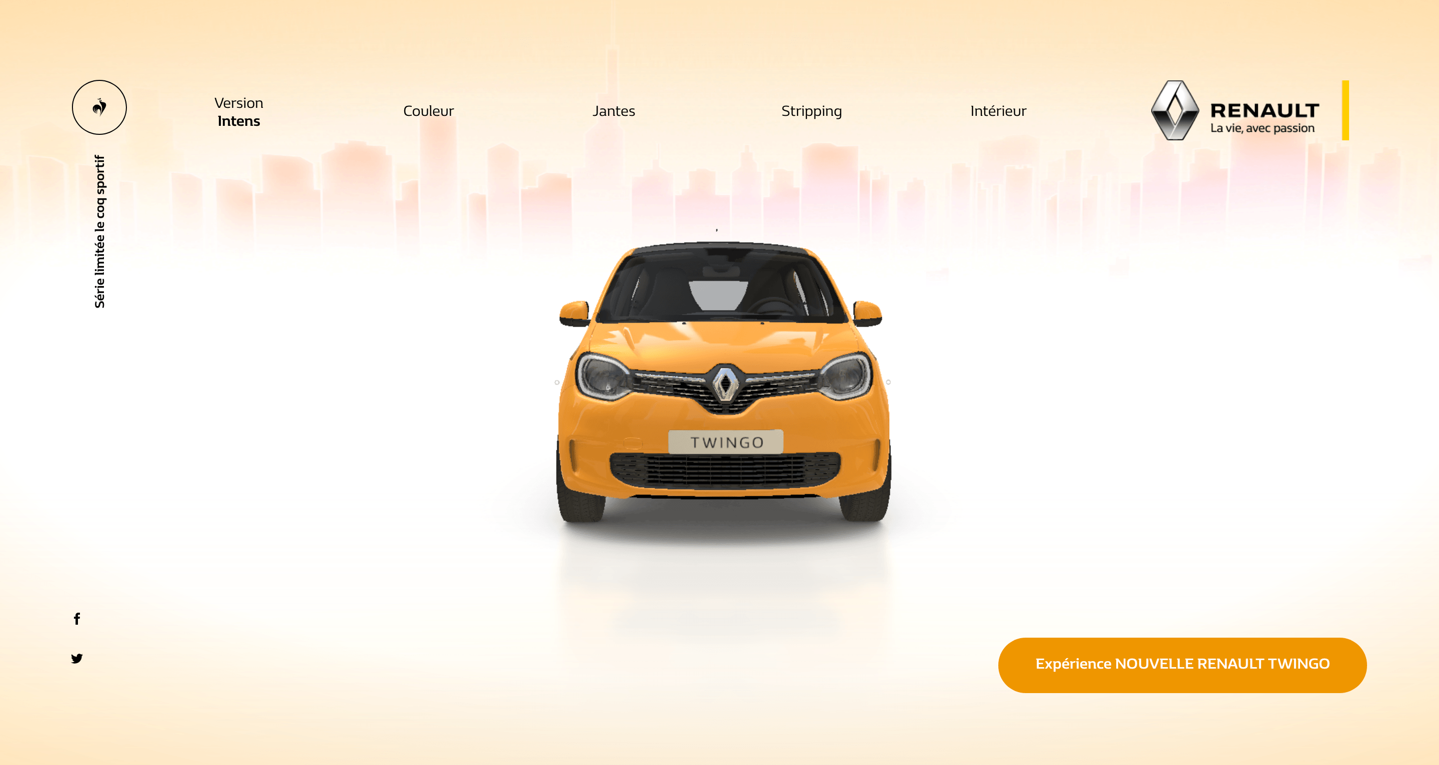 Example of 3D design from The Renault Twingo Experience