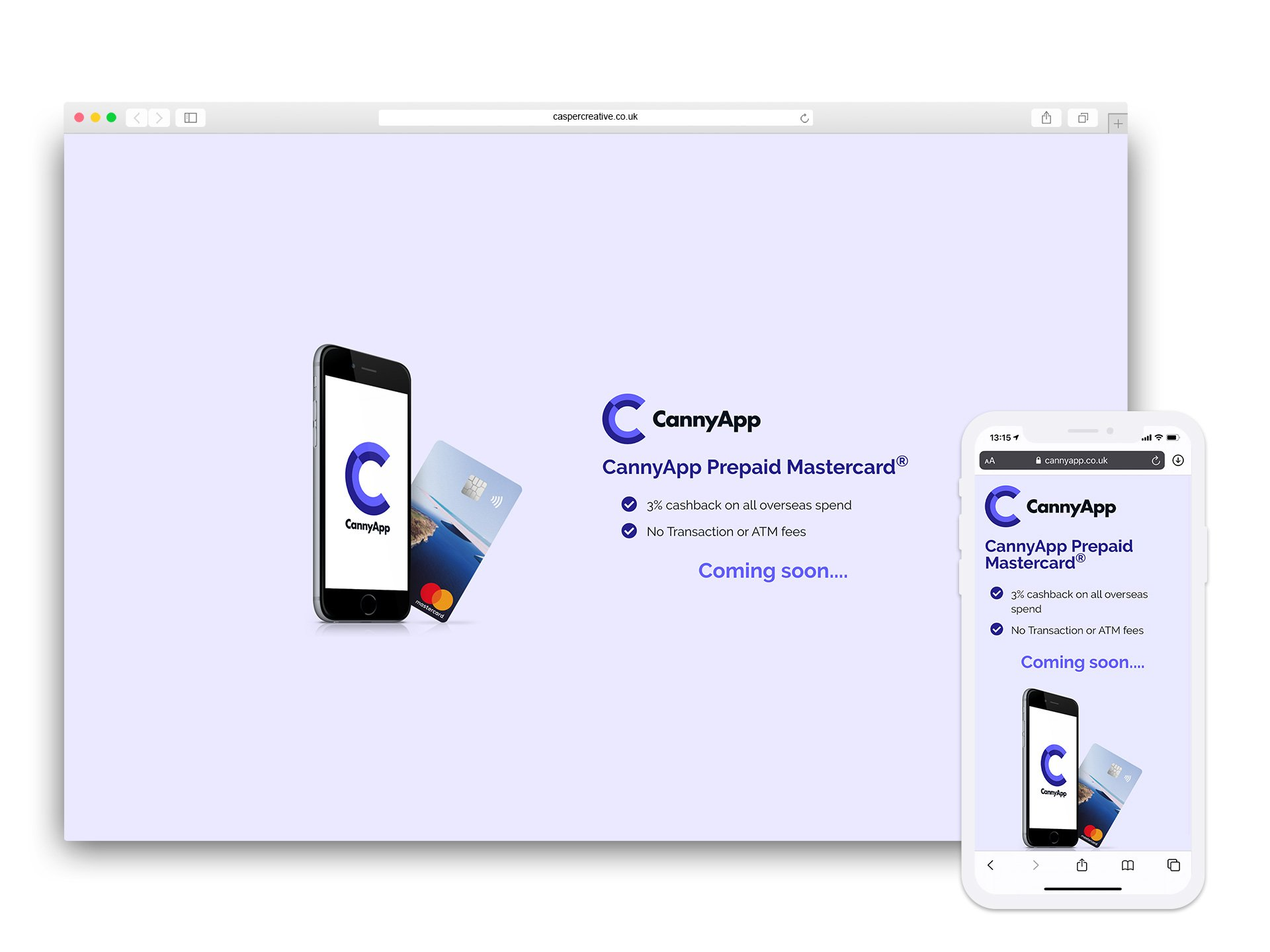 CannyApp Holding Page Website Designed and Developed by Casper Creative