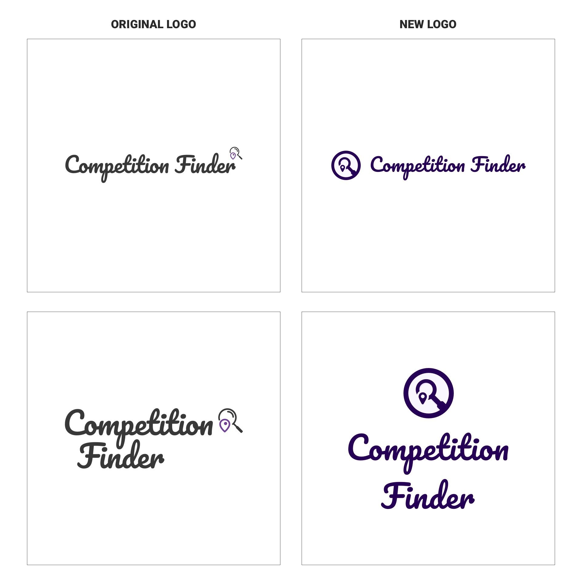 Competition Finder - Original and New Logo