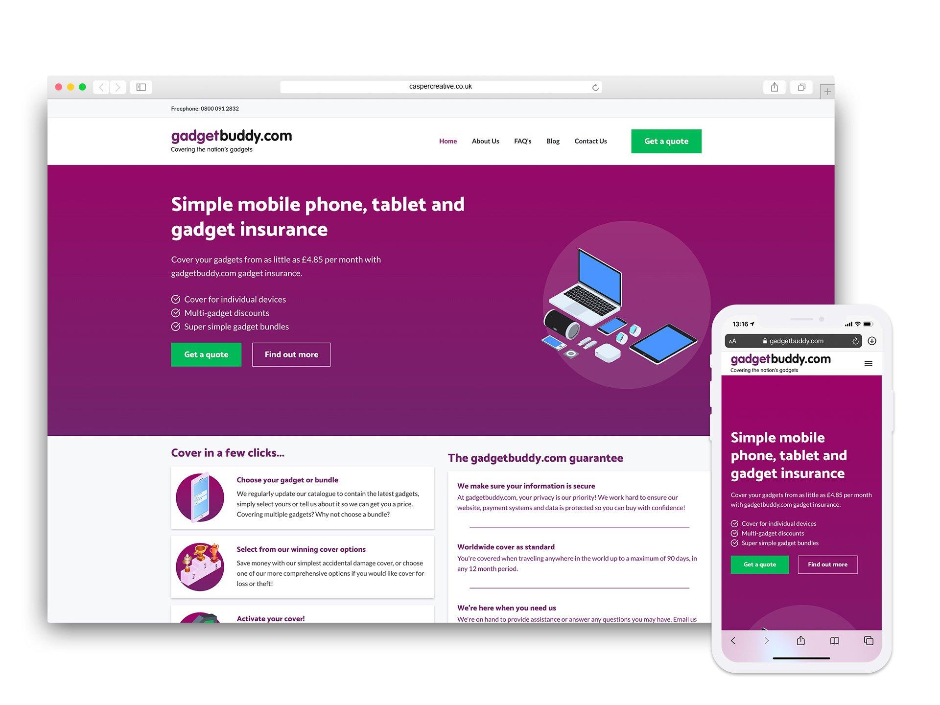 Gadgetbuddy Website - Designed by Casper Creative