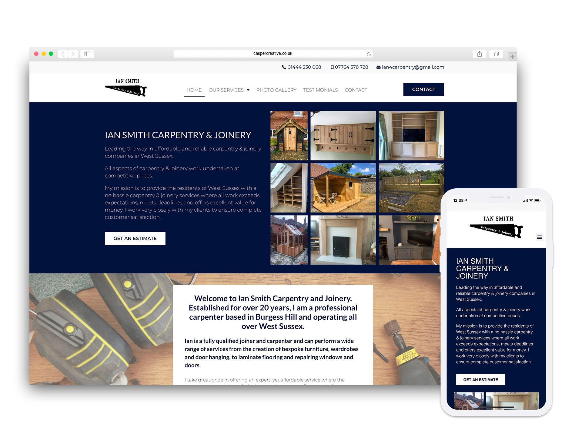 Ian Smith Carpentry & Joinery Website - Designed and Developed by Casper Creative