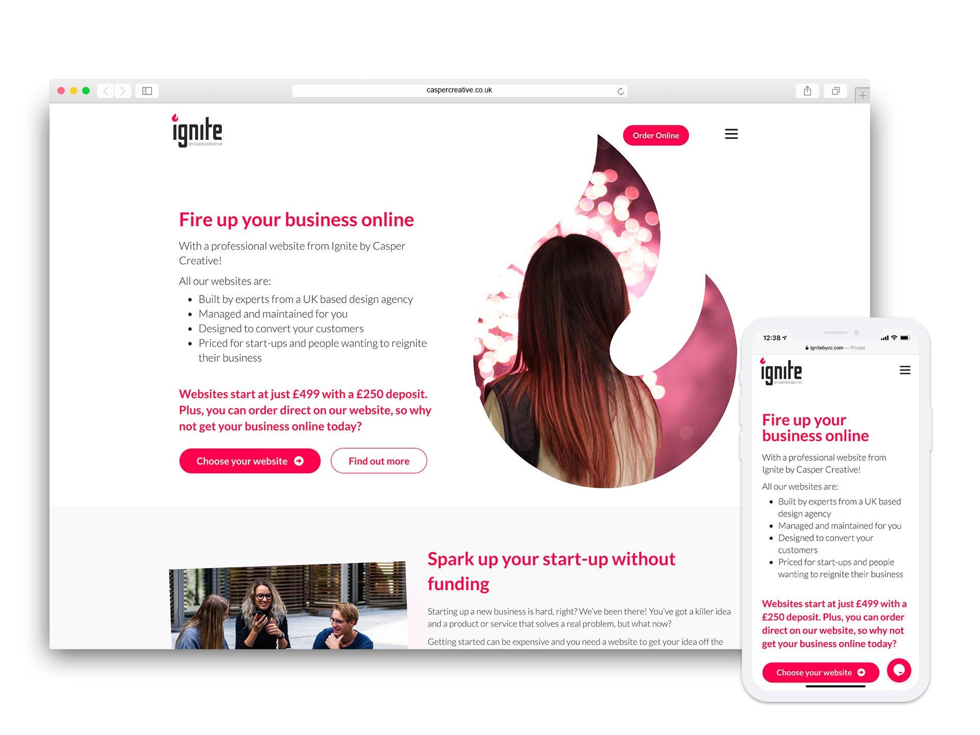 Ignite by Casper Creative Website - Designed and Developed by Casper Creative