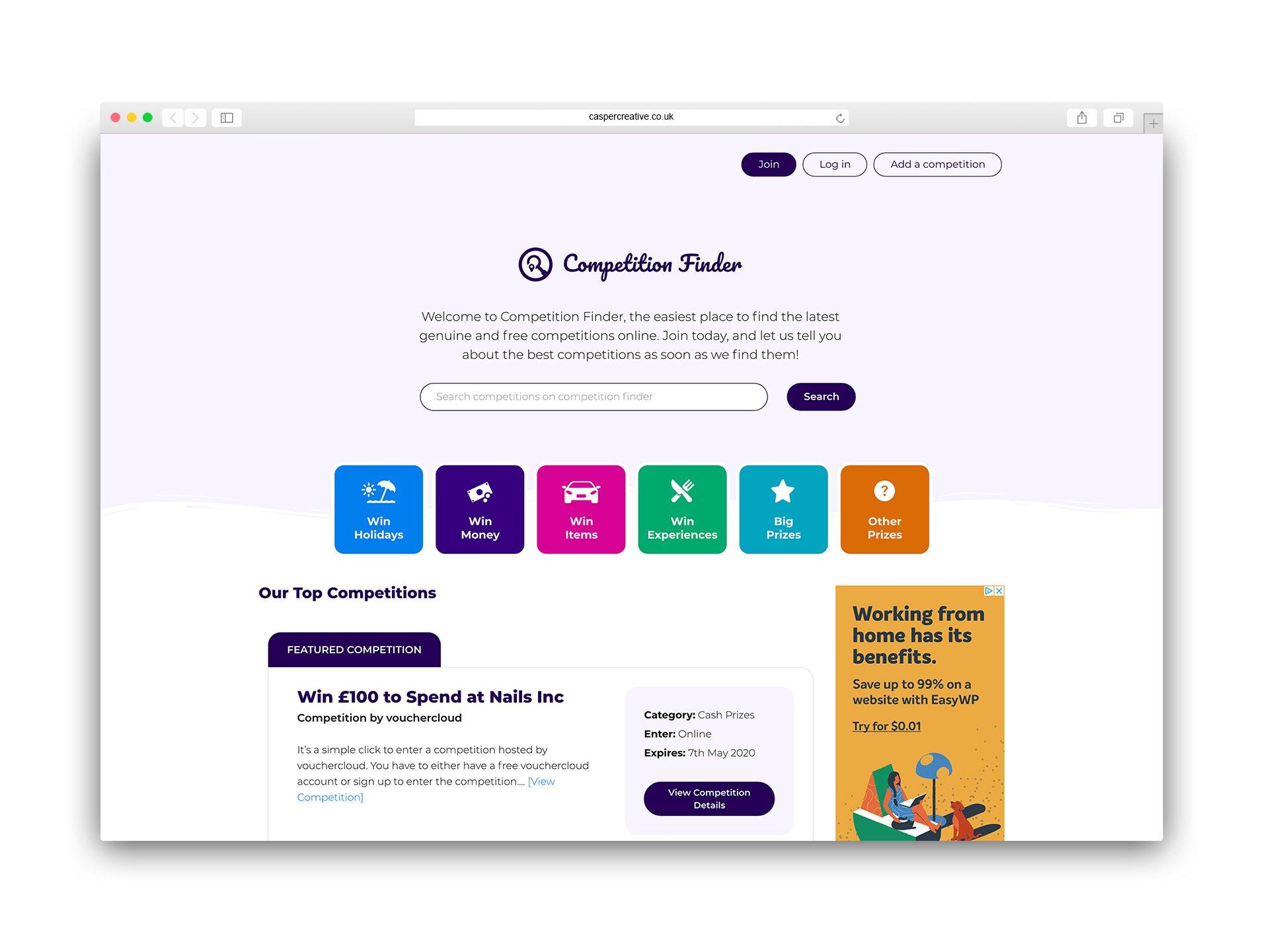 Competition Finder - competition-finder.co.uk