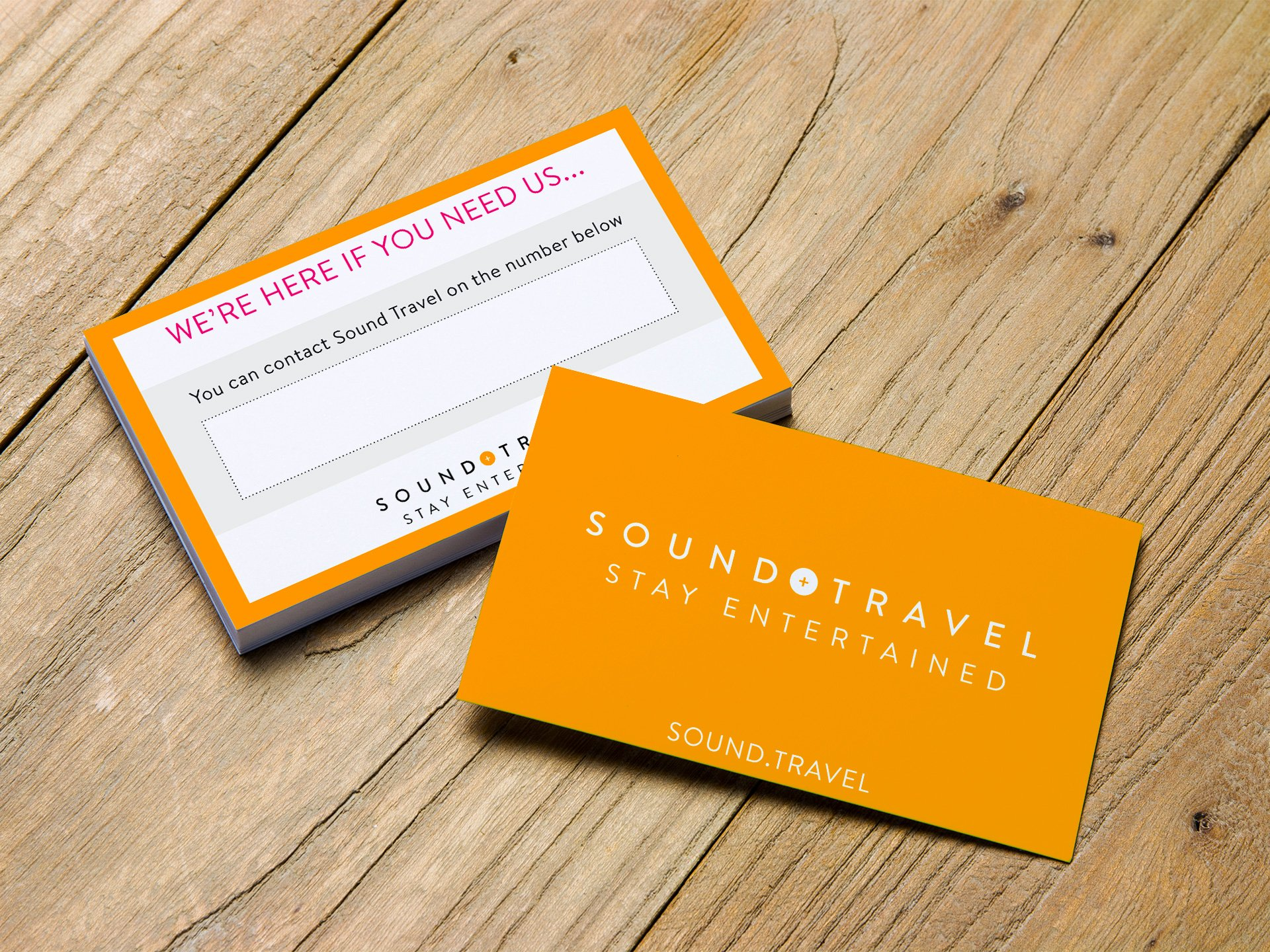 Sound Travel Contact Cards