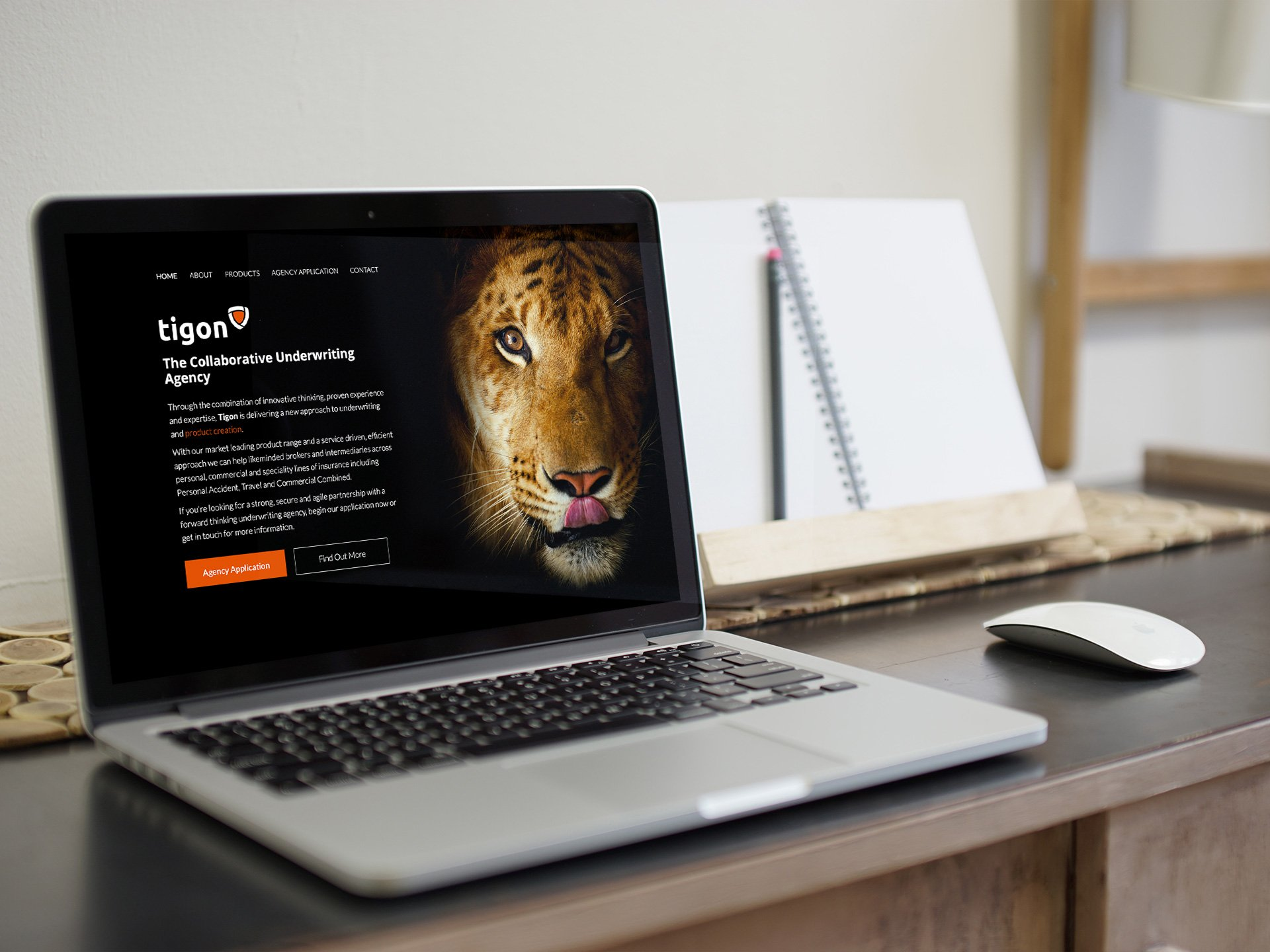 Tigon Website Design by Casper Creative