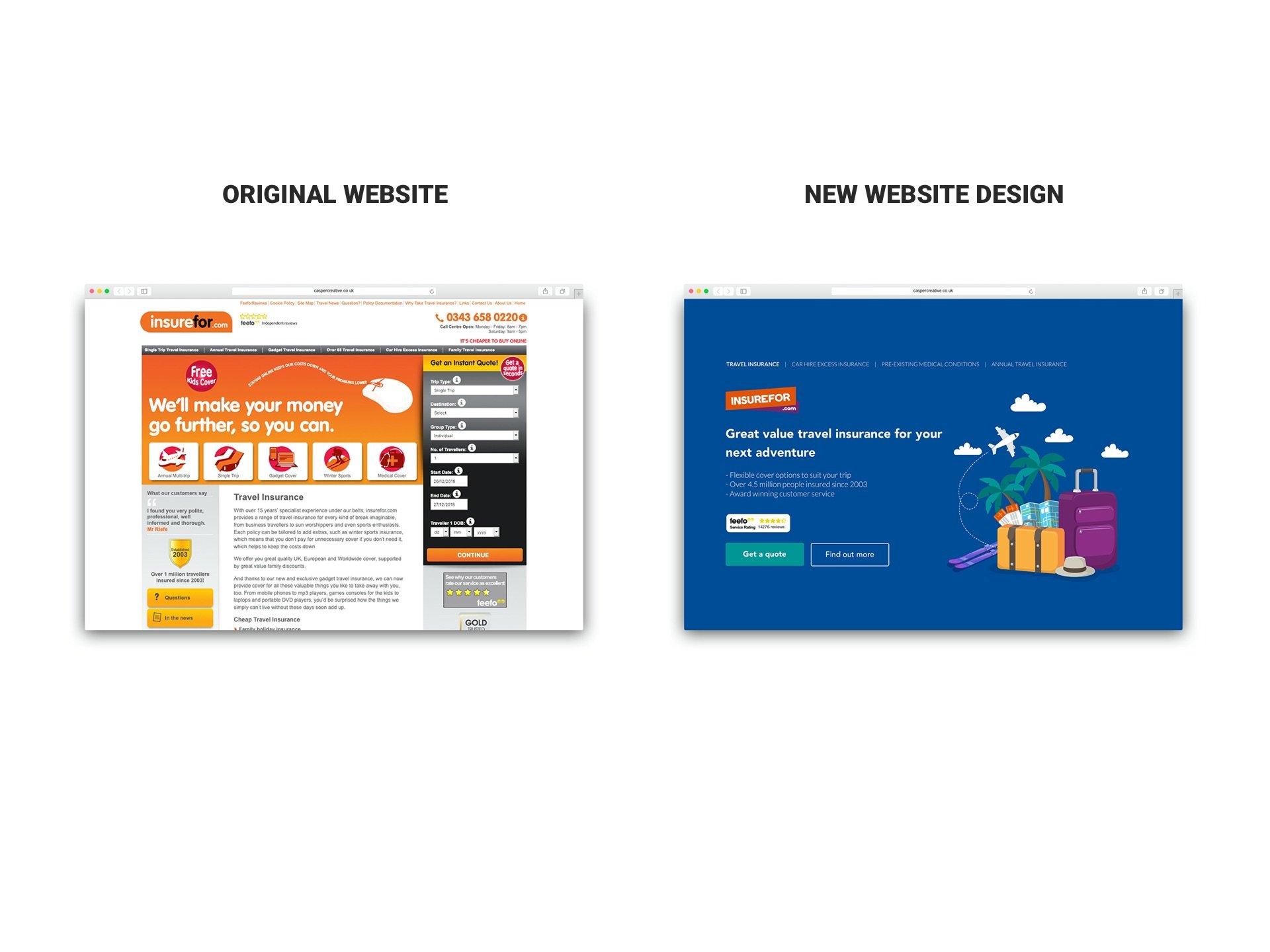 insurefor.com Website rebrand by Casper Creative