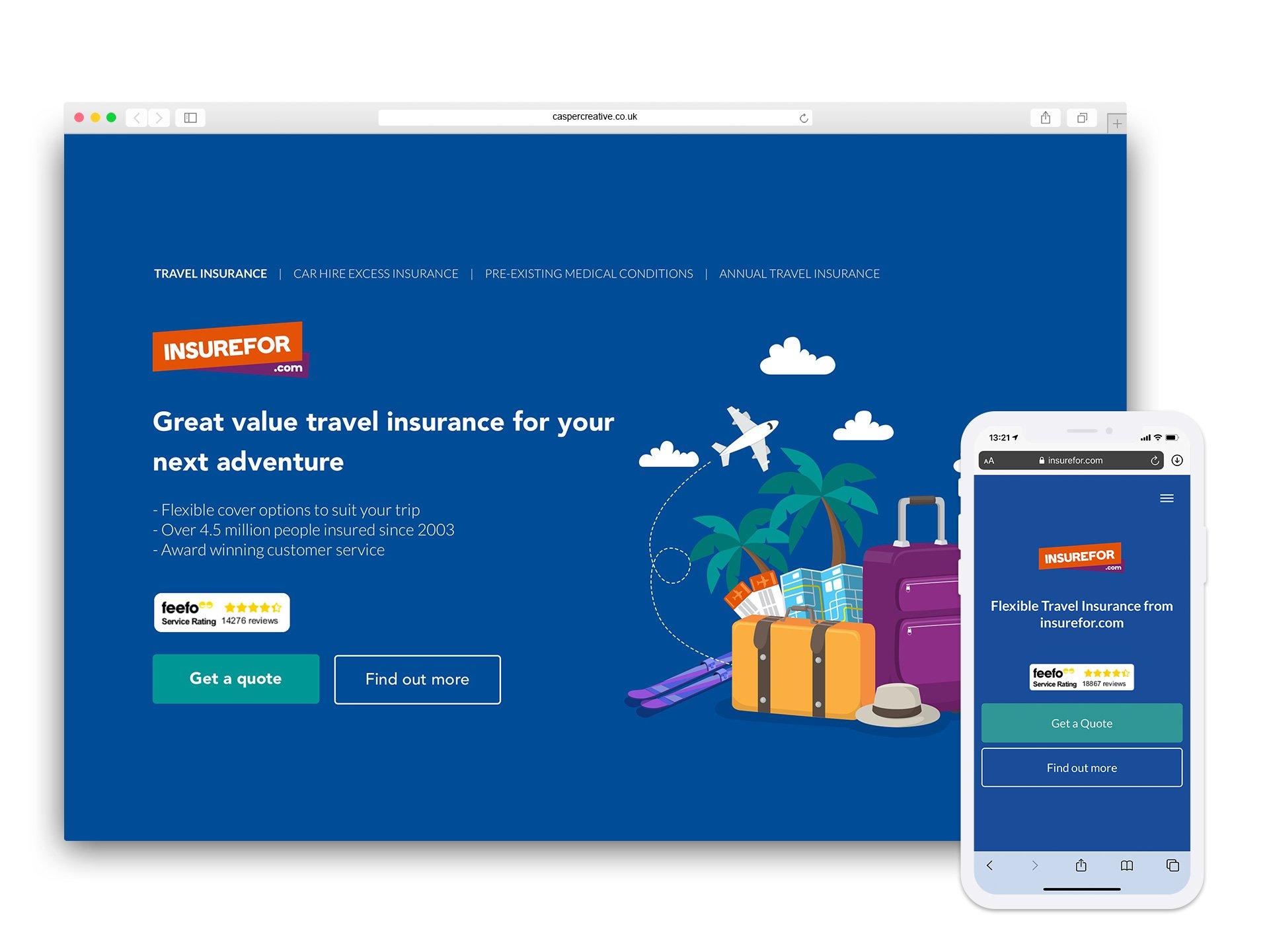 Insurefor.com Website - Designed for ROCK Insurance Group by Casper Creative