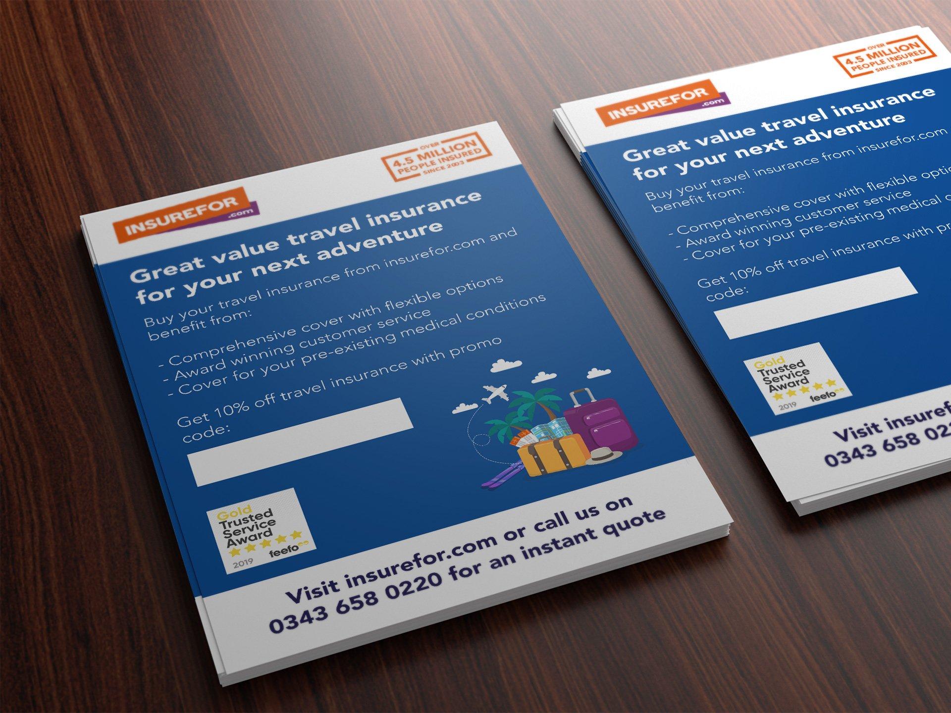 New insurefor.com leaflet design